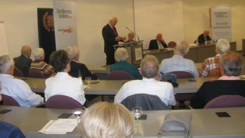 Wohin treibt Europa? - 100 Gäste folgen den Ausführungen von Prof. Dr. Otto Wulff