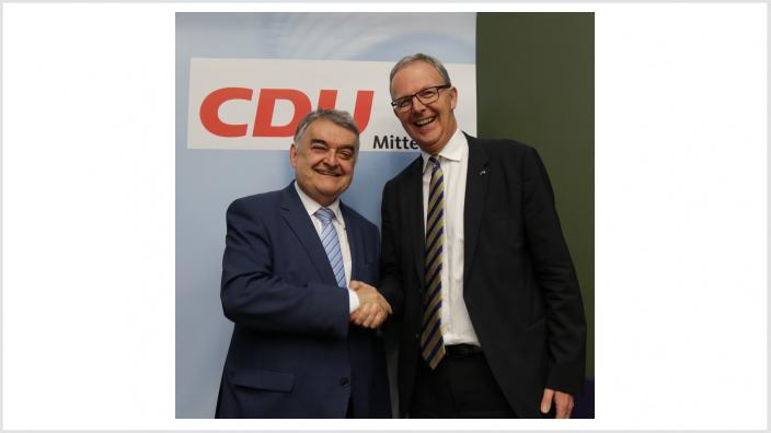 Axel Voss MdEP mit Innenminister Herbert Reul